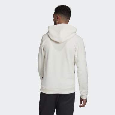 Men's Sportswear White Sherpa Winter Hoodie
