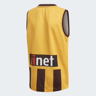 Kids Football Yellow Hawthorn FC Home Guernsey