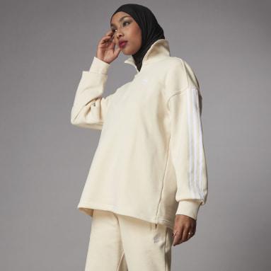 Sweat-shirt Adicolor Classics Half-Zip Blanc Femmes Originals