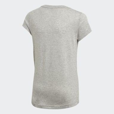 Mädchen Yoga Must Haves Badge of Sport T-Shirt Grau