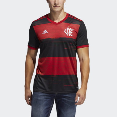 Men Football Black CR Flamengo Home Jersey