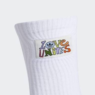 Men's Originals White Love Unites Crew Socks 3 Pairs
