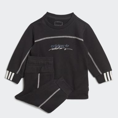Conjunto sudadera y pantalón R.Y.V. Negro Niño Originals