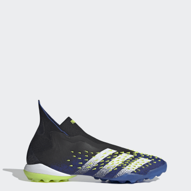 Football Black Predator Freak+ Laceless Turf Boots