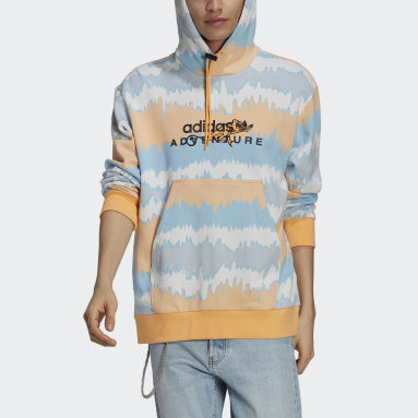 Men Originals Orange adidas Adventure Archive Printed Hoodie