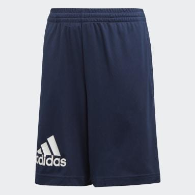 Pantalón corto Training Gear Up Knit Azul Niño Gimnasio Y Entrenamiento