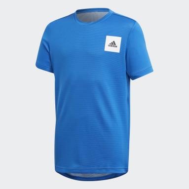 Jungen Yoga AEROREADY T-Shirt Blau