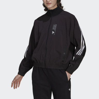 Women Sportswear Black adidas Sportswear Aeroknit Track Top