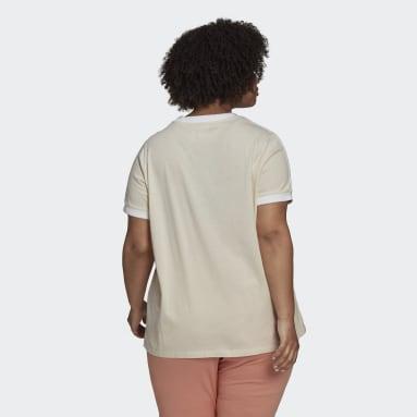 Frauen Originals adicolor Classics 3-Streifen T-Shirt – Große Größen Weiß