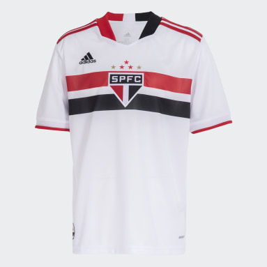 Camisa 1 São Paulo FC 20/21 Branco Meninos Futebol