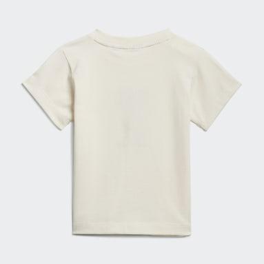 T-shirt Algodão de Produção Biológica Sem Tingimento Branco Criança Originals