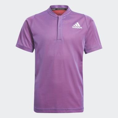 Jongens Tennis Paars Tennis Freelift Primeblue Poloshirt