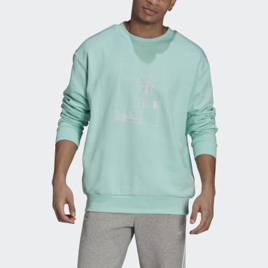 Männer Originals Graphic Sweatshirt Türkis
