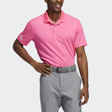 Men Golf Pink Performance Primegreen Polo Shirt