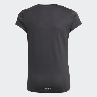 T-shirt Designed 2 Move 3-Stripes Nero Ragazza Fitness & Training
