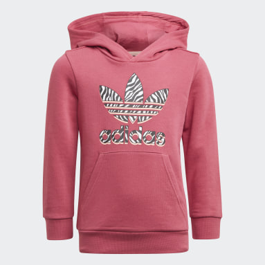 Completo Graphic Print Hoodie Rosa Bambini Originals