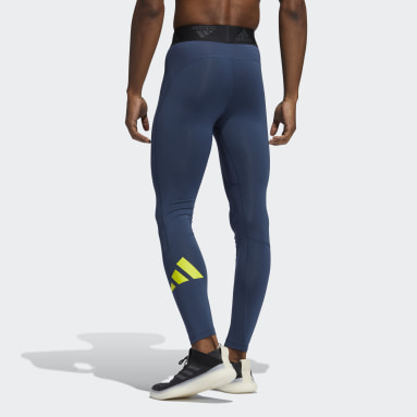 Männer Running Techfit Lange Tight Blau