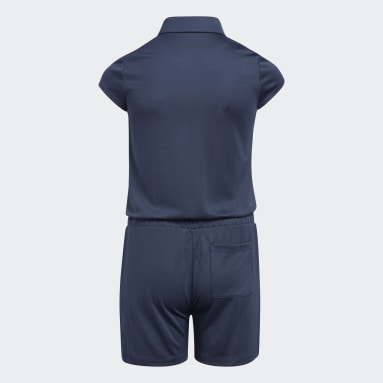 Youth 8-16 Years Golf Blue Romper