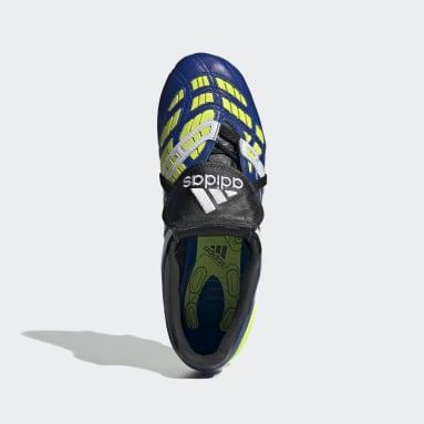 Men Football Blue Predator Accelerator Firm Ground Boots