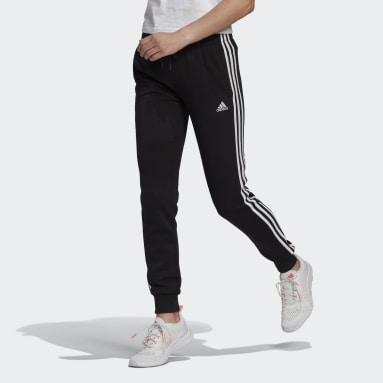 Pantaloni Essentials French Terry 3-Stripes Nero Donna Sportswear