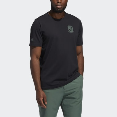 Heren Golf Zwart Championship T-shirt