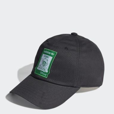 Originals สีดำ หมวกแก๊ปปีกโค้ง Not Easy Being Green