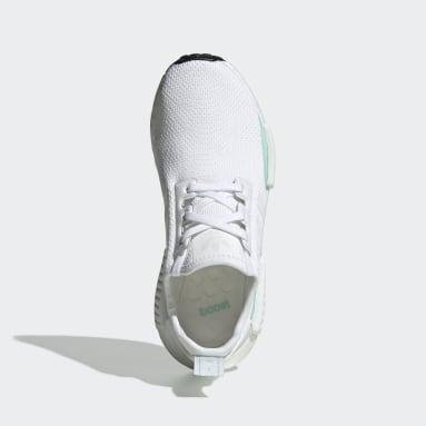 Chaussure NMD_R1 blanc Adolescents Originals