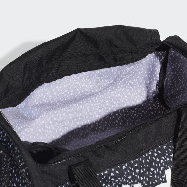 Sportswear Black Linear Duffel Bag
