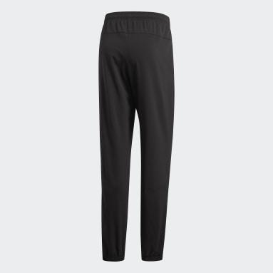 Men Gym & Training Black Essentials Plain Stanford Pants