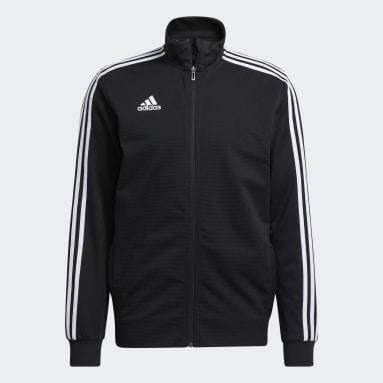 Men Soccer Black Tiro 19 Training Jacket