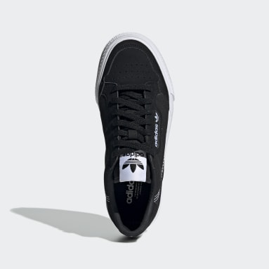 Youth 8-16 Years Originals Black Continental Vulc Shoes