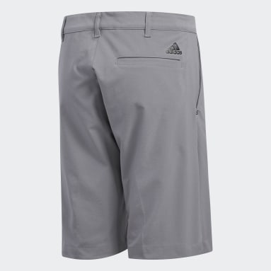 Youth Golf Grey Solid Golf Shorts