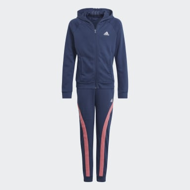 Youth 8-16 Years Gym & Training Blue Bold Hooded Tracksuit