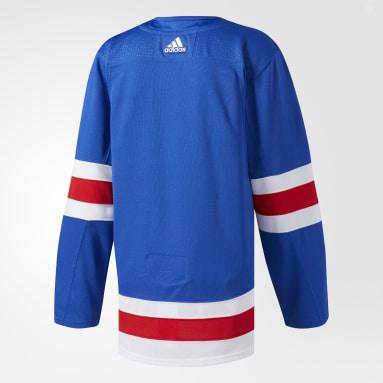 синий Оригинальная домашняя джерси Rangers