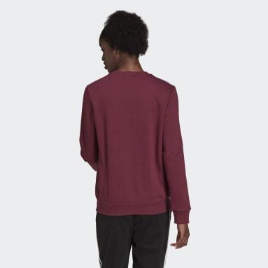 Ženy Sportswear červená Mikina Essentials 3-Stripes Fleece