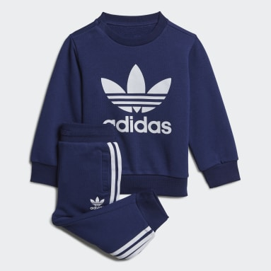 Děti Originals modrá Souprava Crew Sweatshirt