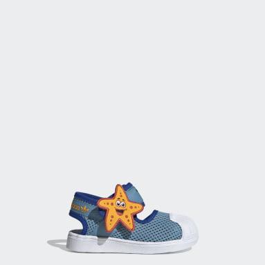 Deti Originals žltá Sandále Superstar 360 Primeblue