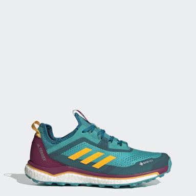 Women's TERREX Turquoise Terrex Agravic Flow GORE-TEX Trail Running Shoes