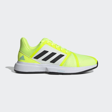 Men's Tennis Yellow CourtJam Bounce Shoes