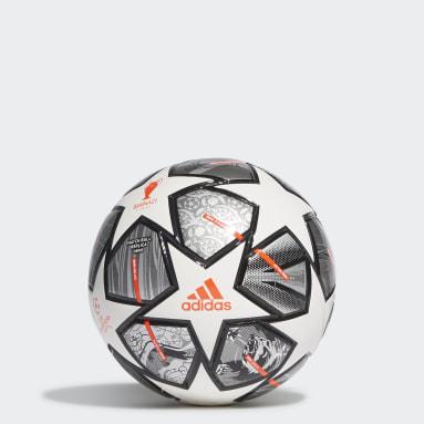 Fotbal bílá Míč Finale 21 20th Anniversary UCL Mini