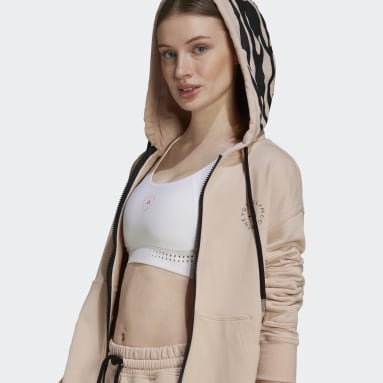 Dames adidas by Stella McCartney Roze adidas by Stella McCartney Sportswear Hooded Sweatshirt