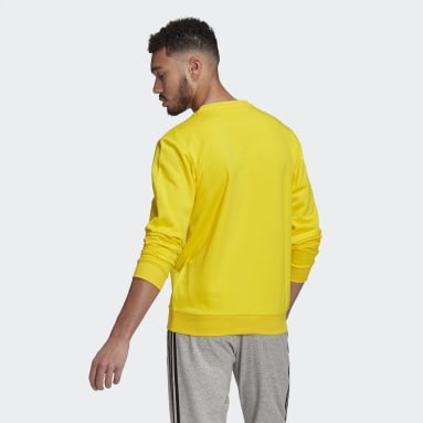 Men Sportswear Yellow Essentials Big Logo Sweatshirt
