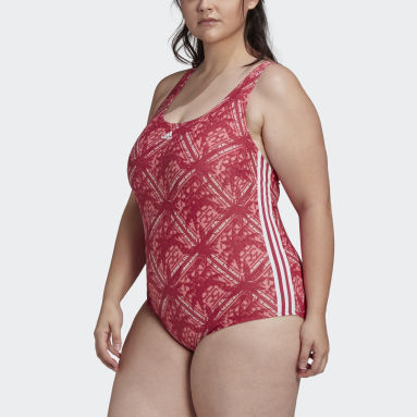 Women Swimming Pink SH3.RO 3-Stripes Festivibes Swimsuit (Plus Size)