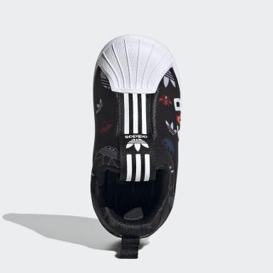 Infants Originals Black Superstar 360 X Shoes