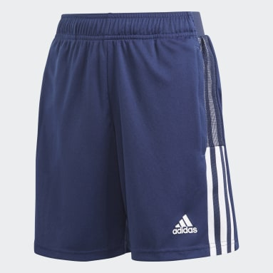 Pantalón corto entrenamiento Tiro 21 Azul Niño Fútbol