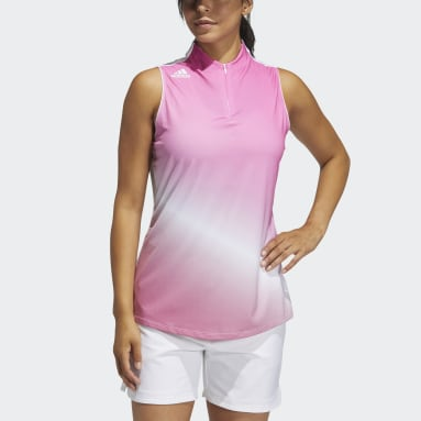 Polo sin mangas Primegreen Gradient Rosa Mujer Golf