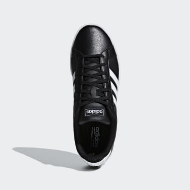 Men Sport Inspired Black Grand Court Shoes
