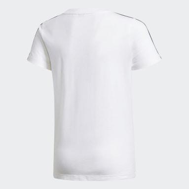 Girls Gym & Training White Karate T-Shirt