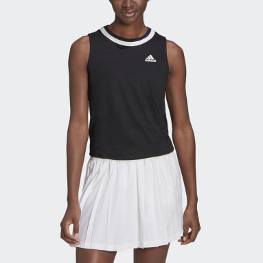 Frauen Tennis Club Knotted Tennis Tanktop Schwarz