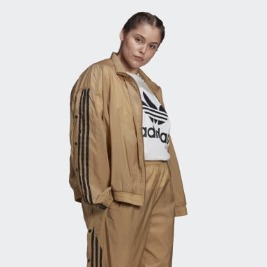 Women Originals Brown R.Y.V. Track Jacket (Plus Size)